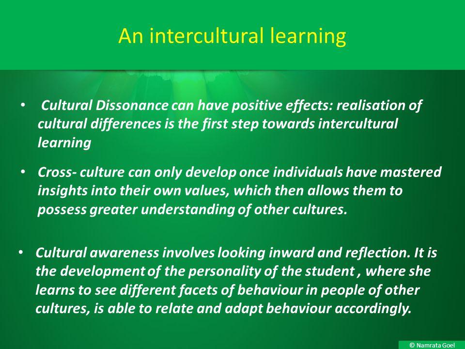 An intercultural learning