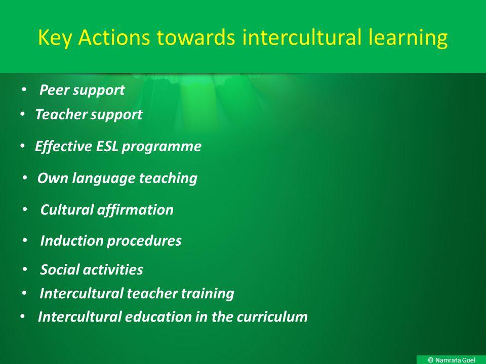 Key Actions towards intercultural learning