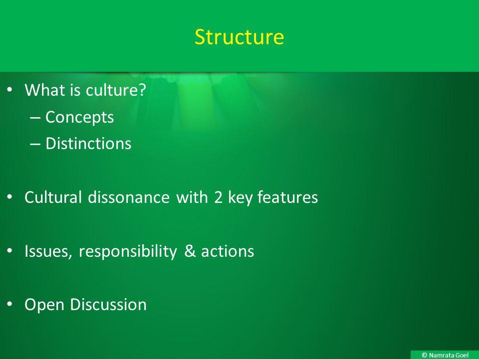 Structure What is culture Concepts Distinctions