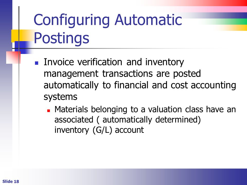 Configuring Automatic Postings