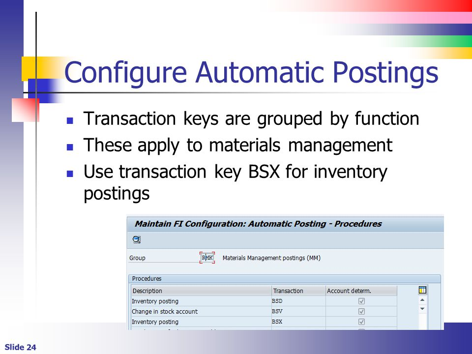 Configure Automatic Postings