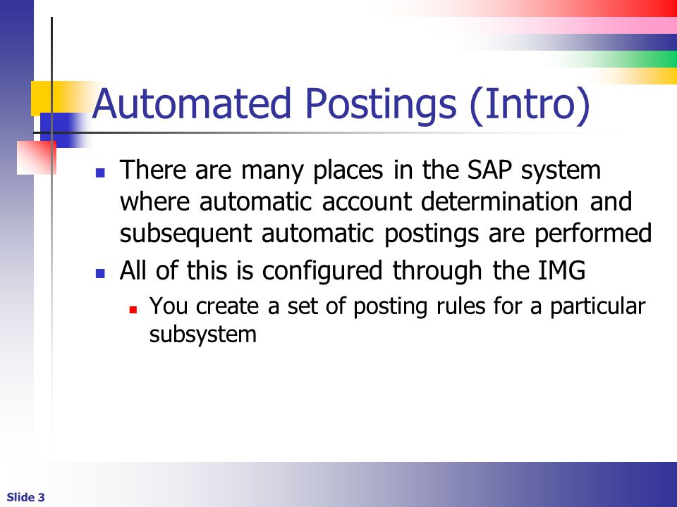 Automated Postings (Intro)