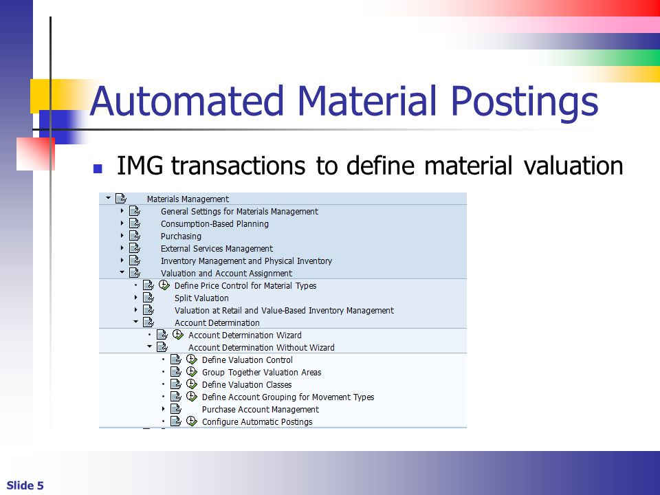 Automated Material Postings