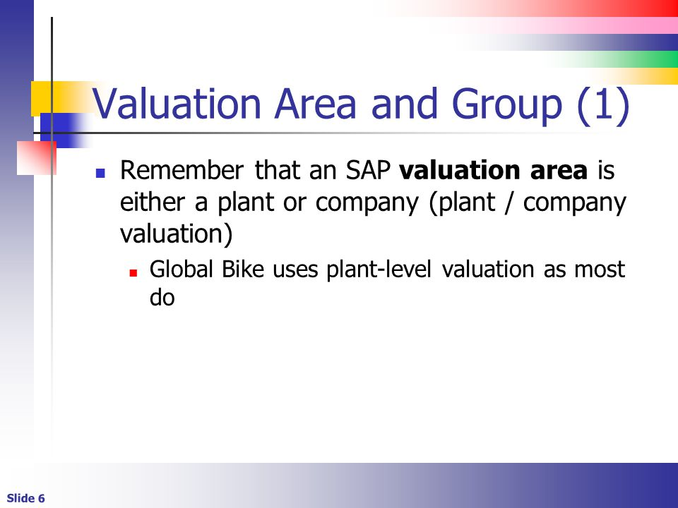 Valuation Area and Group (1)