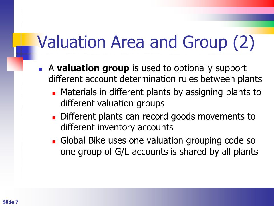 Valuation Area and Group (2)