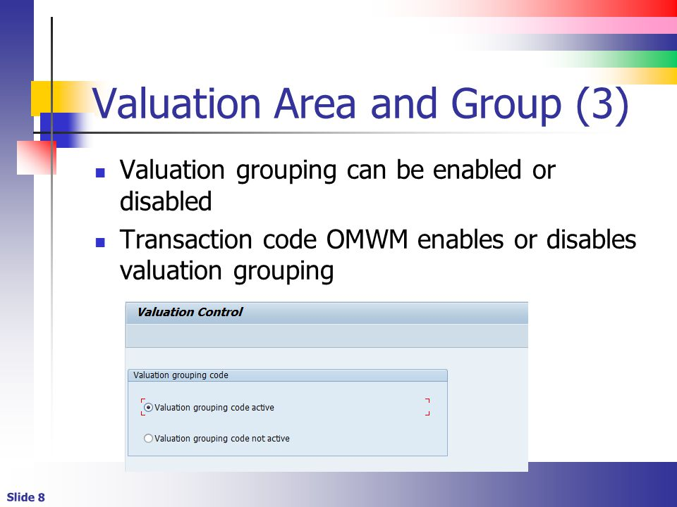 Valuation Area and Group (3)