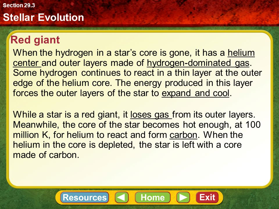 Red giant Stellar Evolution