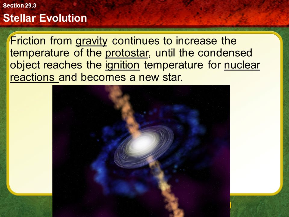 Section 29.3 Stellar Evolution.