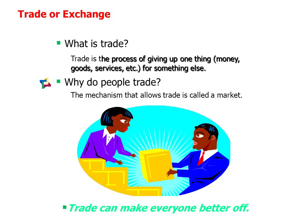 Trade can make everyone better off.