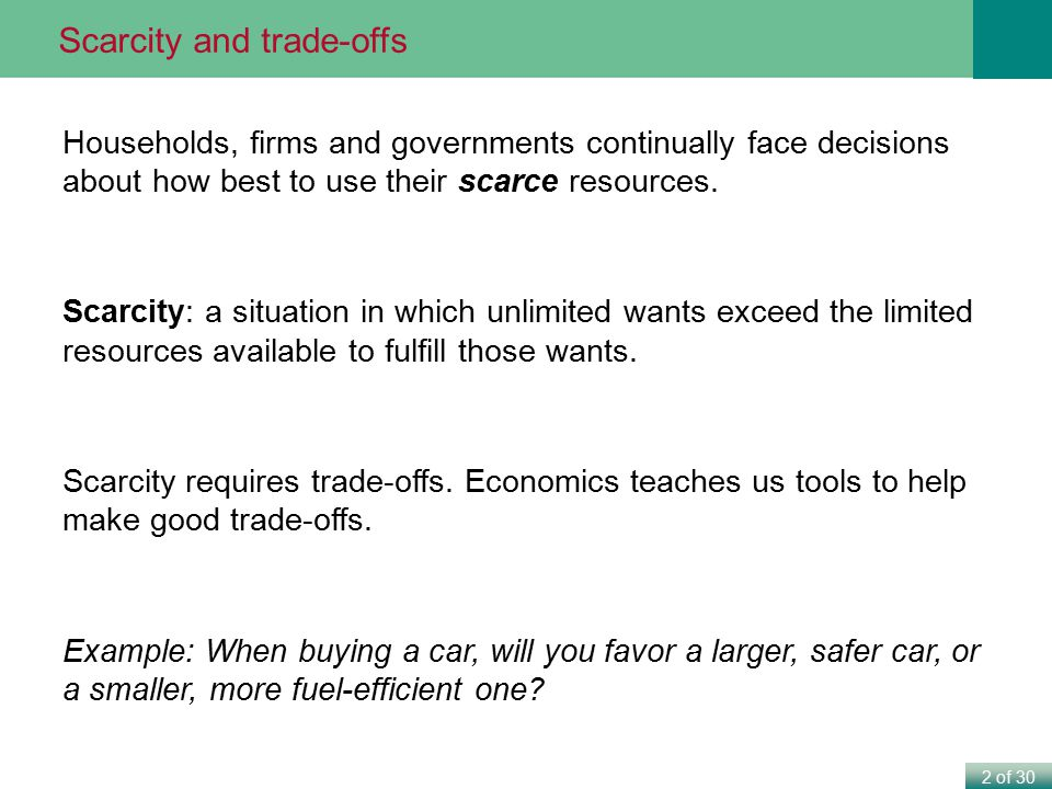 Scarcity and trade-offs