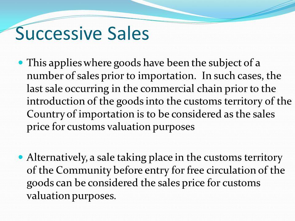 Successive Sales