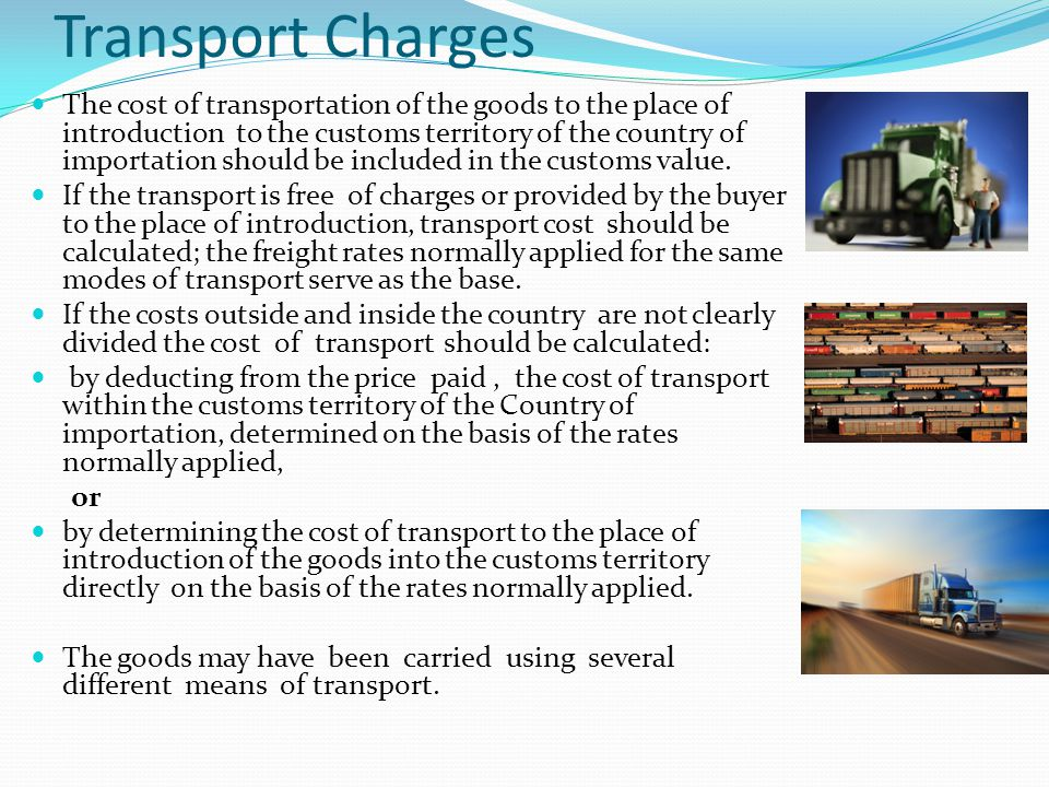 Transport Charges