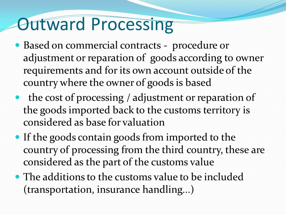 Outward Processing