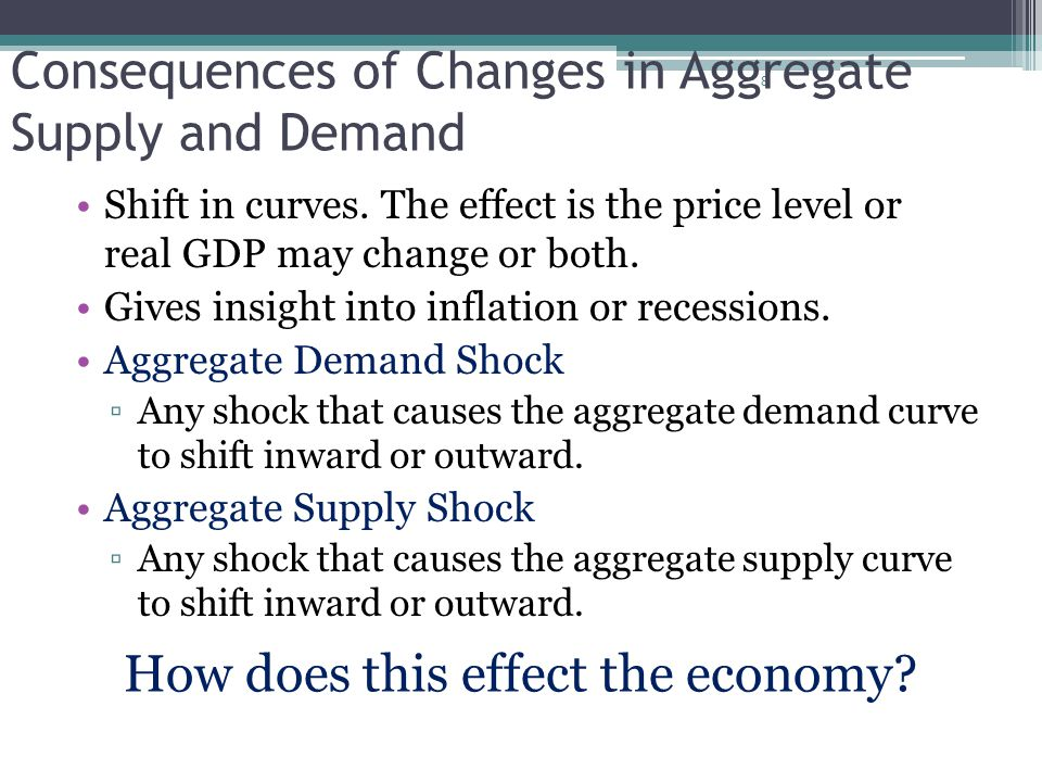 Consequences of Changes in Aggregate Supply and Demand