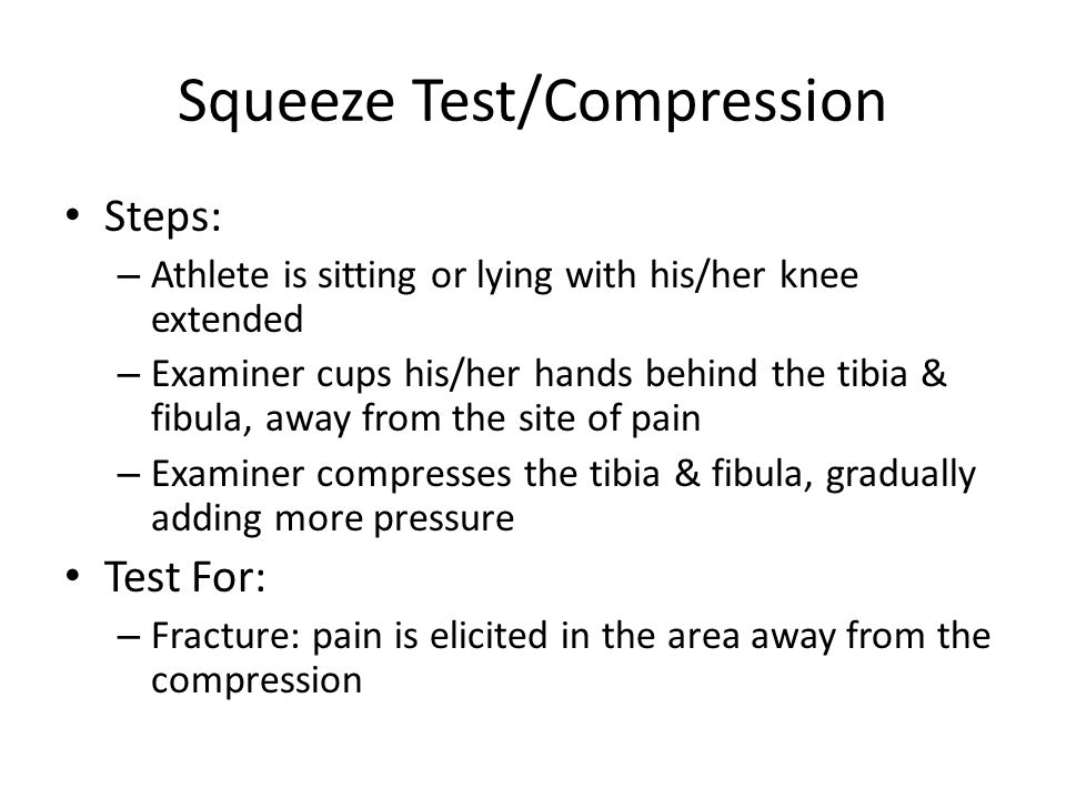 Squeeze Test/Compression