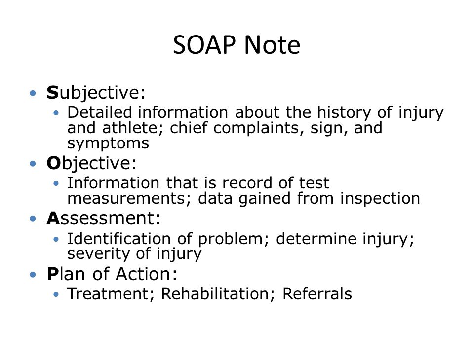 Evaluation Soap Notes  Ppt Video Online Download