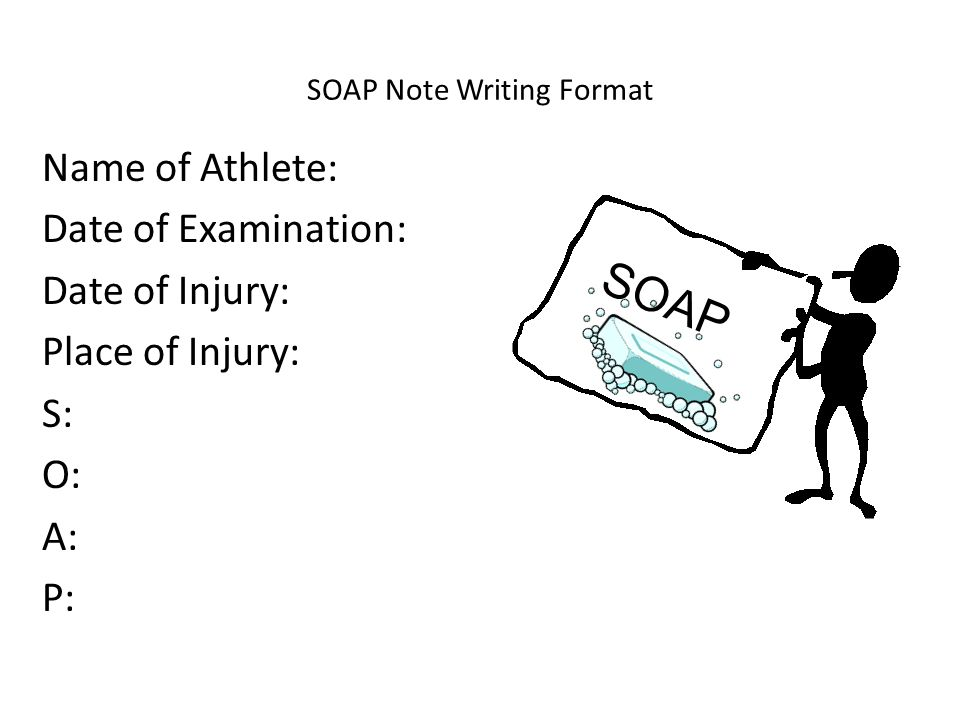 SOAP Note Writing Format