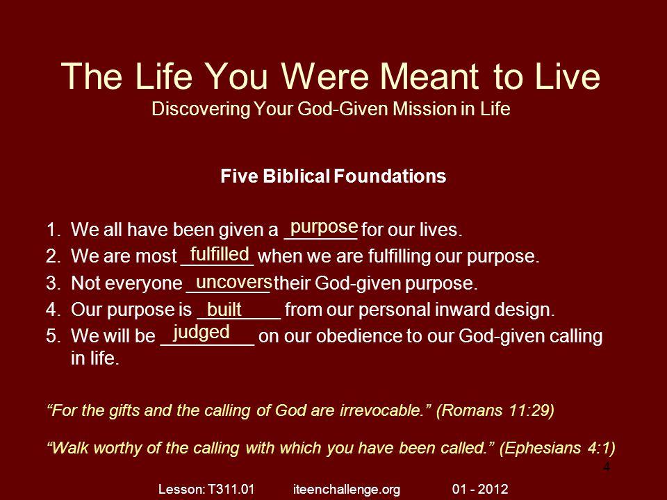 Five Biblical Foundations