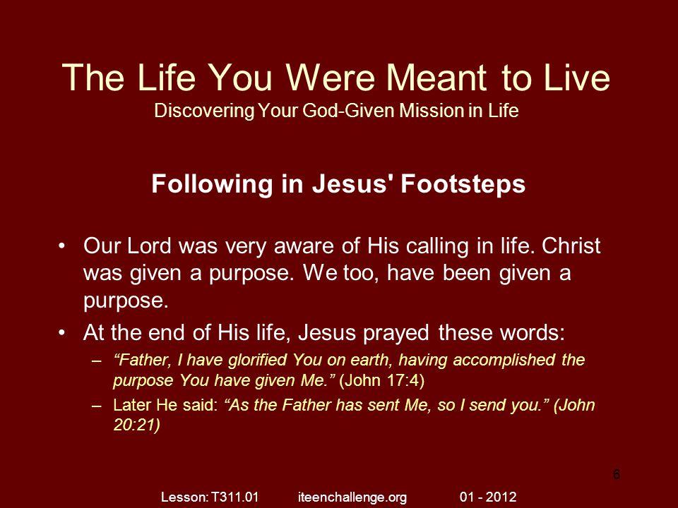 Following in Jesus Footsteps