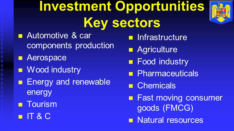 Investment Opportunities Key sectors