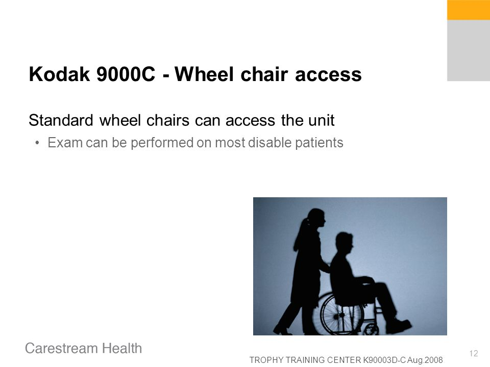 Kodak 9000C - Wheel chair access