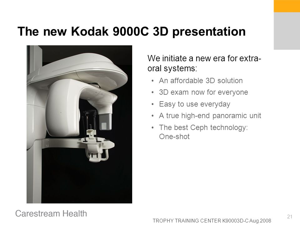 The new Kodak 9000C 3D presentation