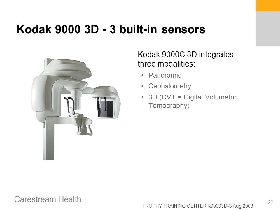 Kodak 9000 3D - 3 built-in sensors