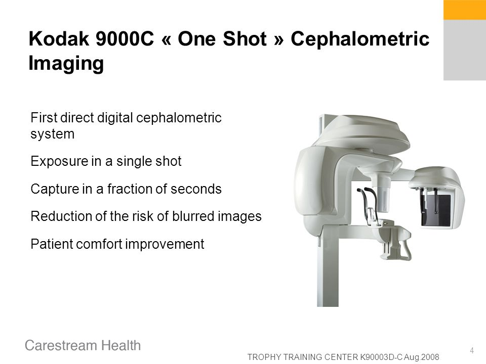 Kodak 9000C « One Shot » Cephalometric Imaging