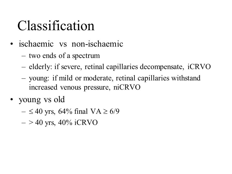 Classification ischaemic vs non-ischaemic young vs old