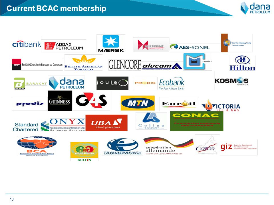 Current BCAC membership