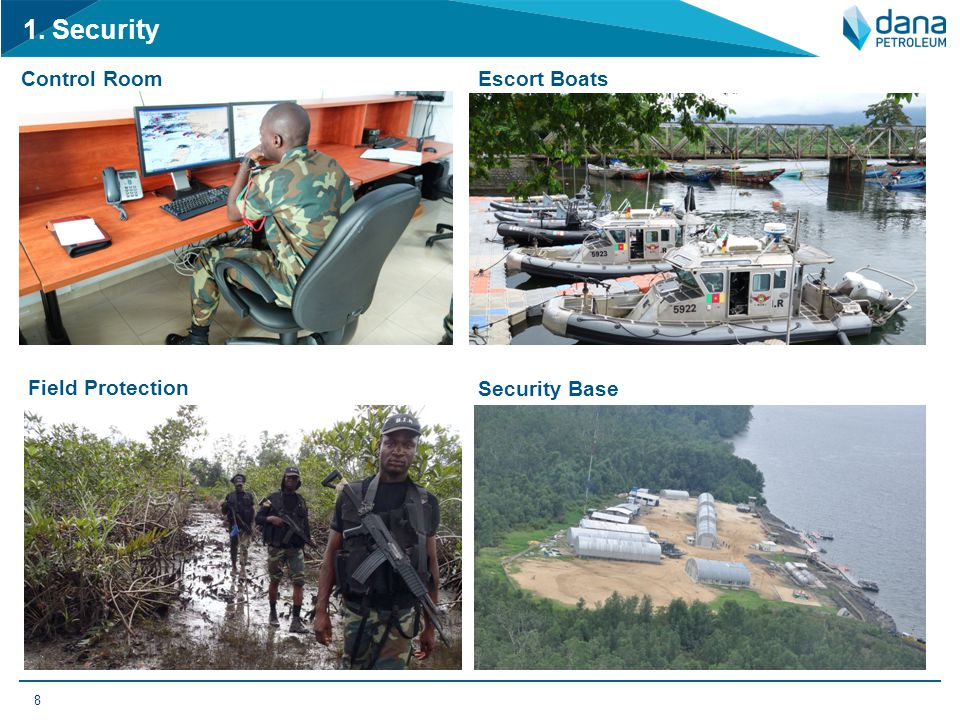 1. Security Control Room Escort Boats Field Protection Security Base