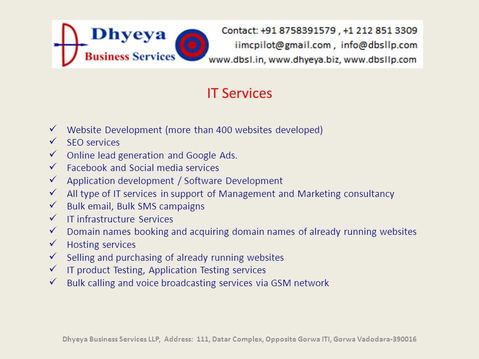 IT Services Website Development (more than 400 websites developed)