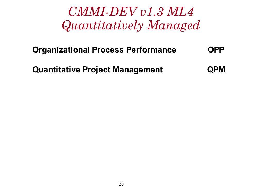 CMMI-DEV v1.3 ML4 Quantitatively Managed