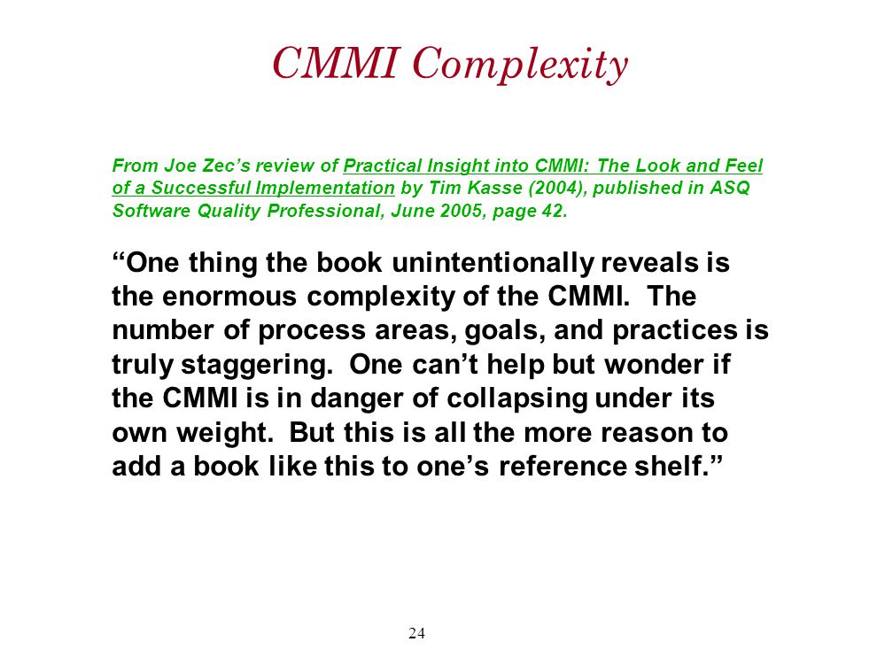 CMMI Complexity