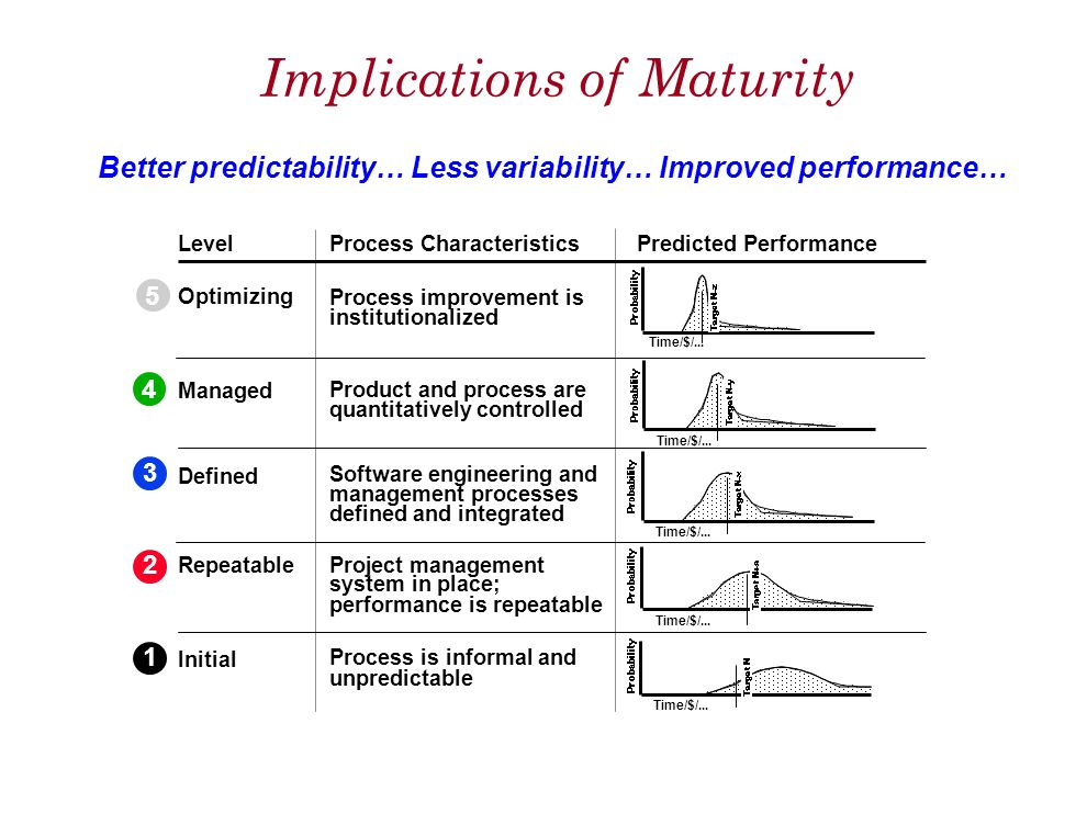 Implications of Maturity
