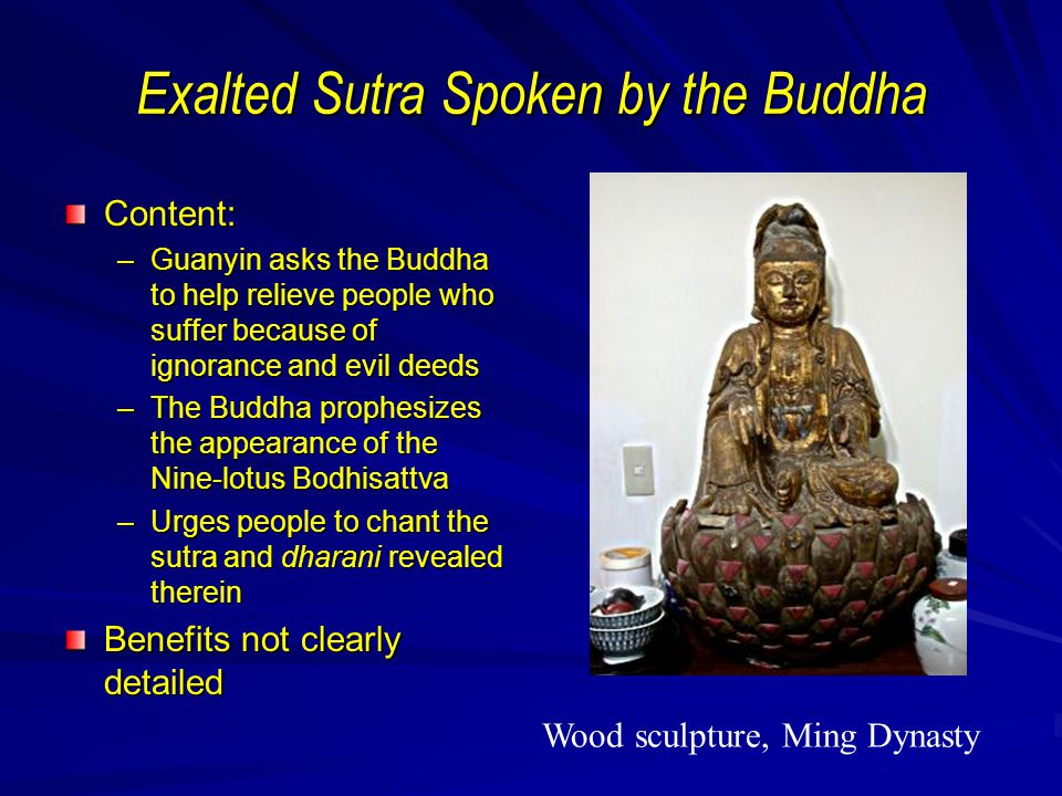 Exalted Sutra Spoken by the Buddha