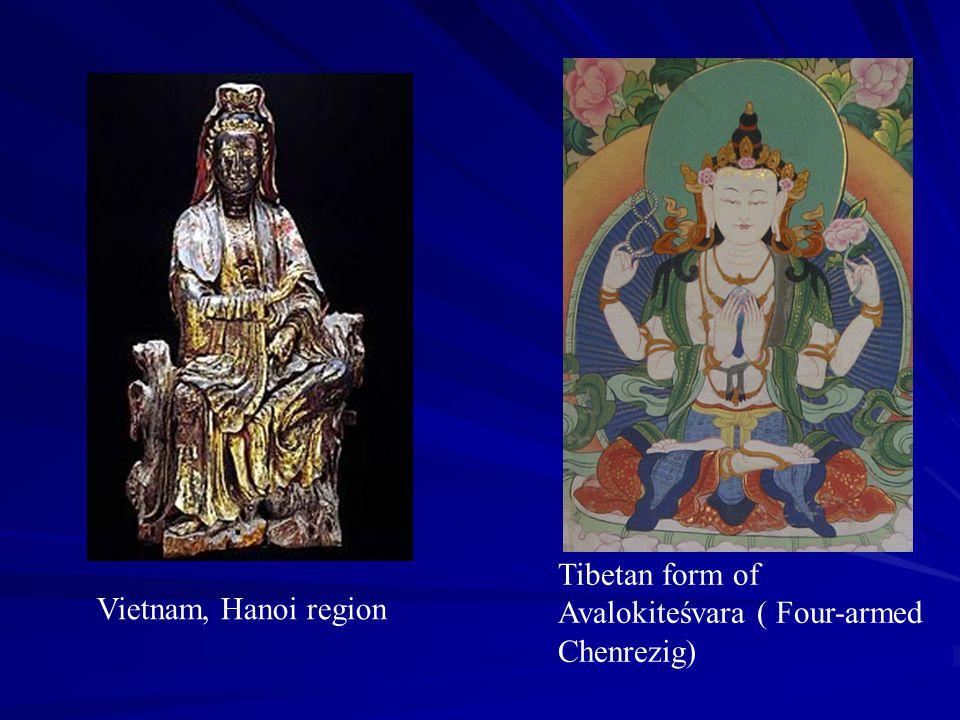 Tibetan form of Avalokiteśvara ( Four-armed Chenrezig) Vietnam, Hanoi region