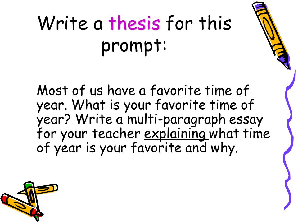 Write a thesis for this prompt: