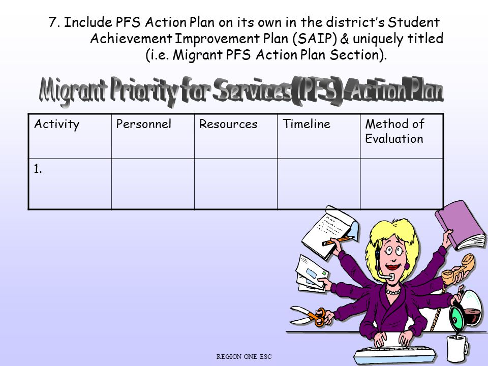 Migrant Priority for Services (PFS) Action Plan