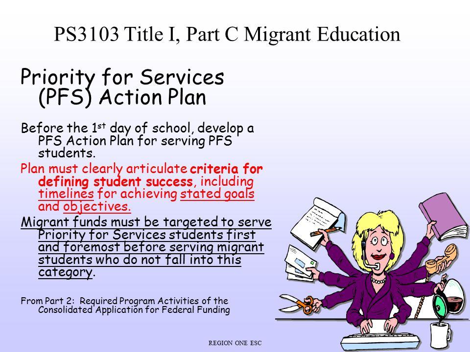PS3103 Title I, Part C Migrant Education