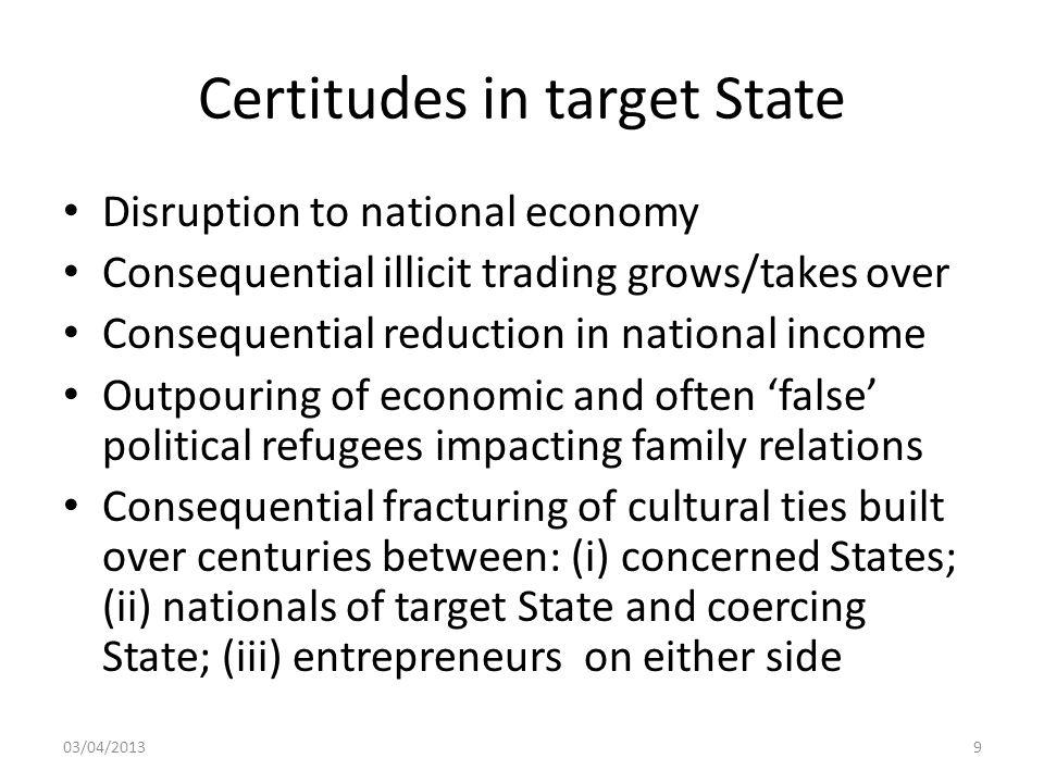 Certitudes in target State