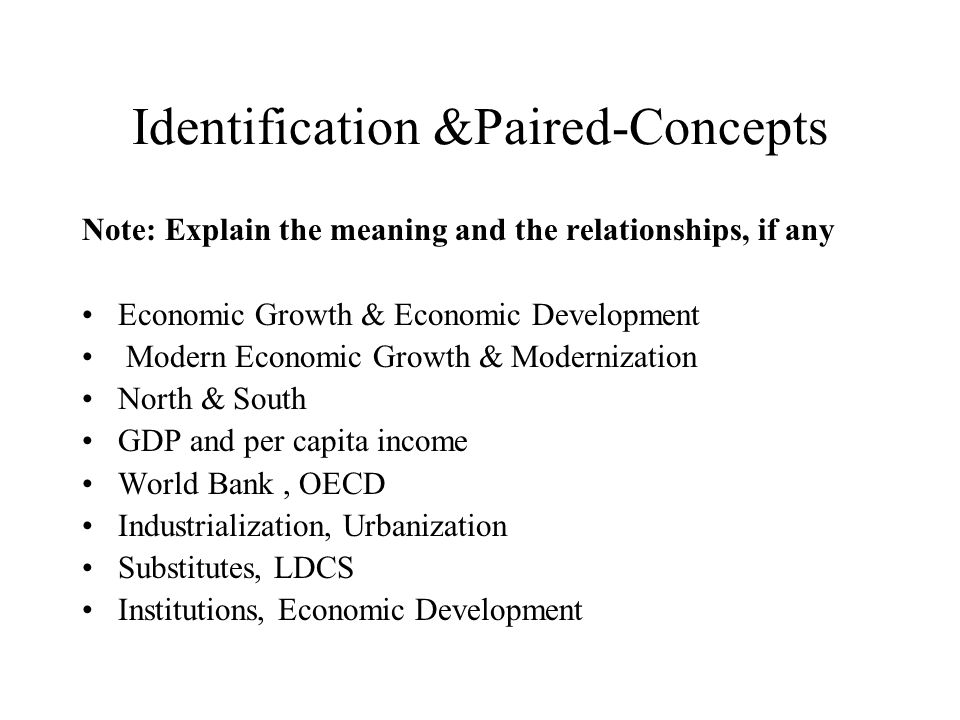 Identification &Paired-Concepts