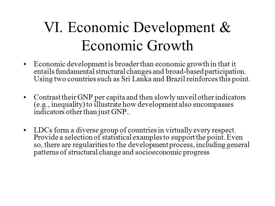 VI. Economic Development & Economic Growth