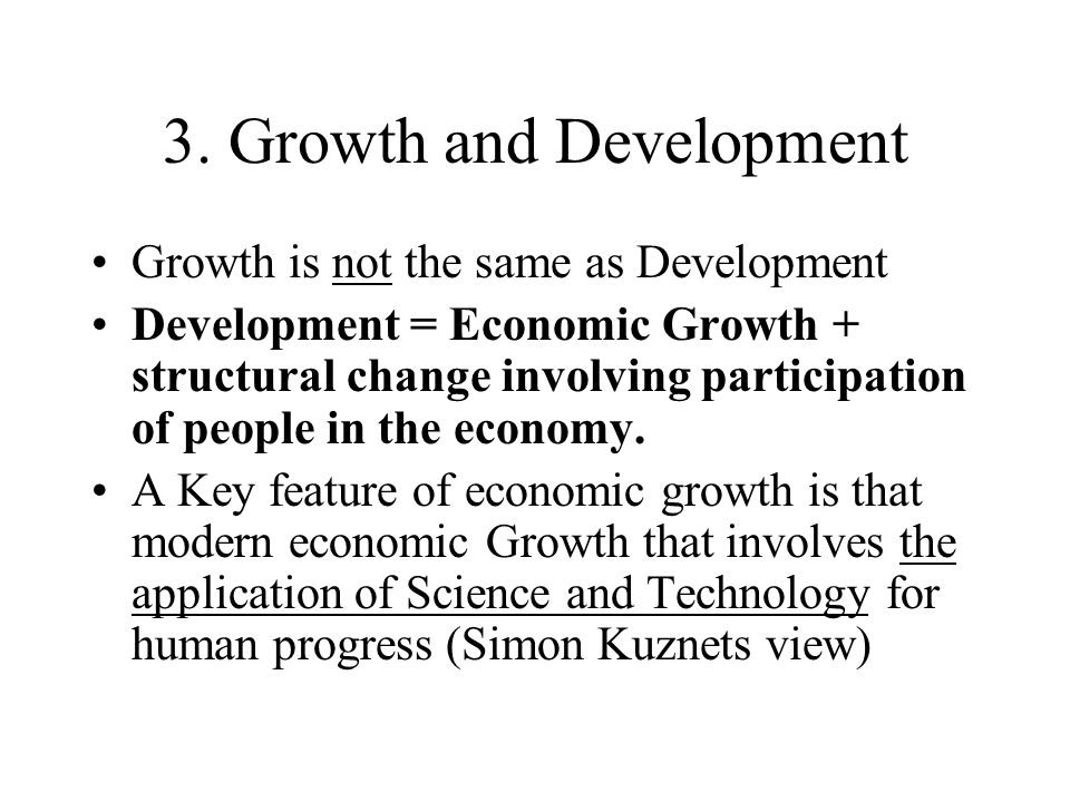 3. Growth and Development