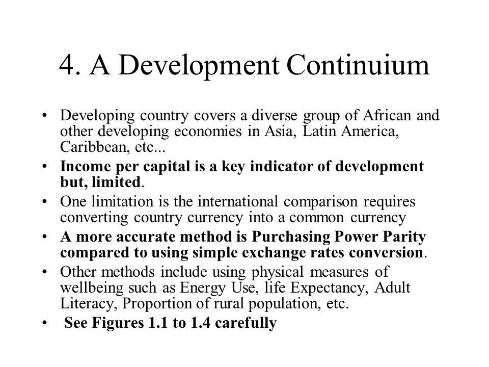 4. A Development Continuium