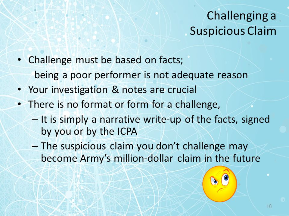 Challenging a Suspicious Claim