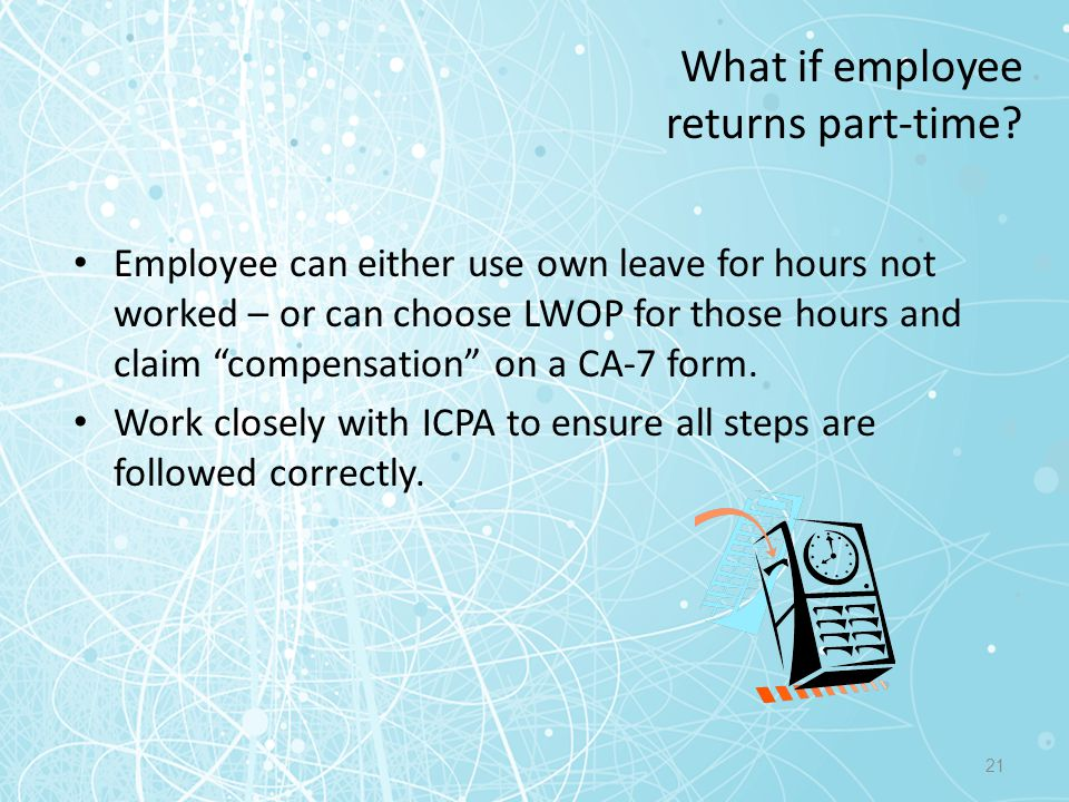 What if employee returns part-time