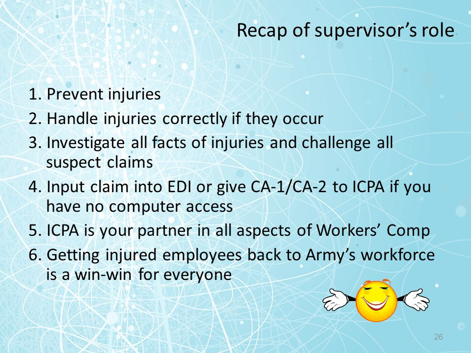 Recap of supervisor's role
