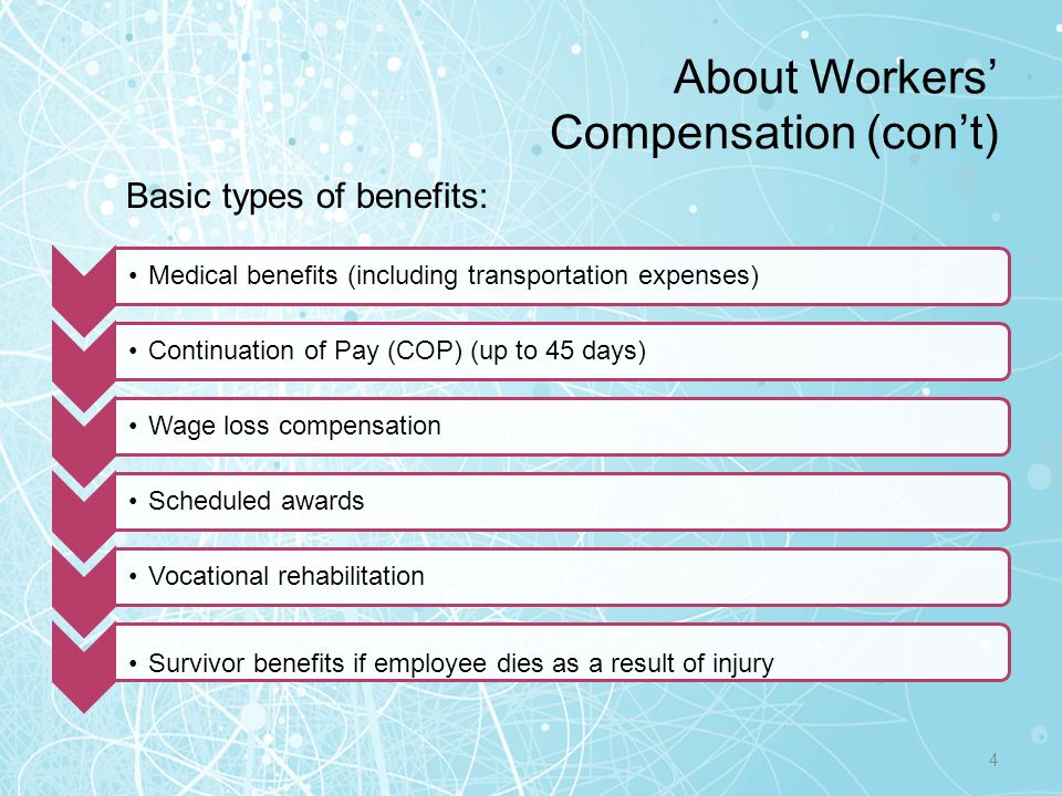 About Workers' Compensation (con't)