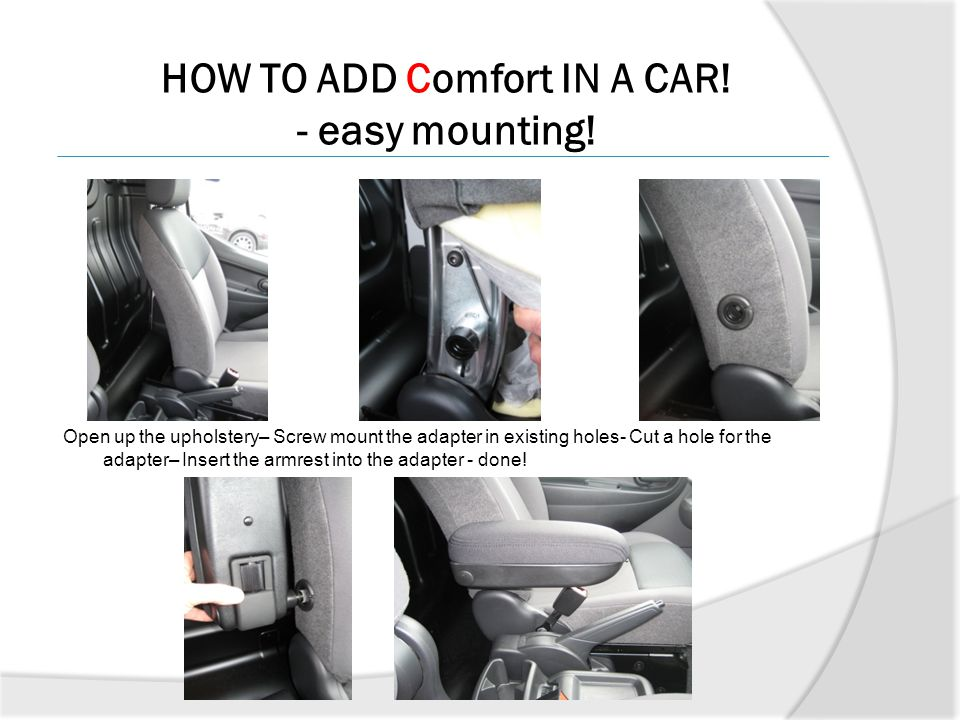 HOW TO ADD Comfort IN A CAR! - easy mounting!